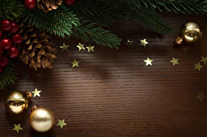 Обои Рождество Шар Шишки Звездочки