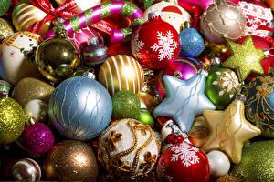 Картинка Рождество Шар Звездочки