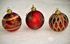 Фотография Рождество Шар Втроем Красный