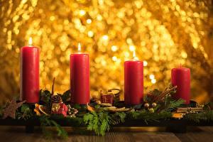 Картинки Рождество Свечи Пламя