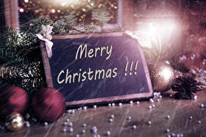 Картинка Рождество Английский Ветвь Шар