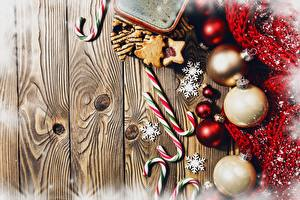 Фотографии Новый год Леденцы Шарики Доски