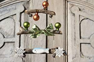 Фотография Рождество Шарф Бантик Снежинки