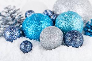 Картинка Рождество Снег Шар