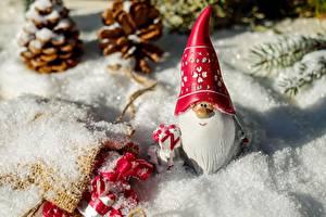 Фотографии Рождество Зимние Санта-Клаус Шапки Снег