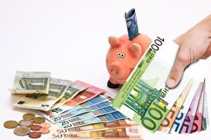 Картинки Монеты Купюры Деньги Евро