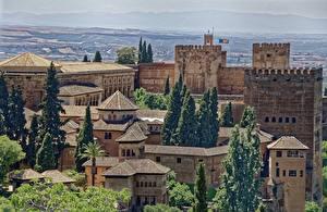 Картинка Крепость Замки Испания Alhambra, Granada