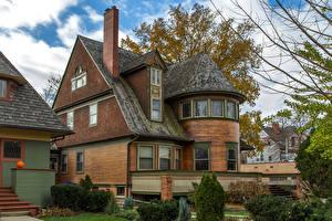 Фотография Здания Особняк Дизайн Walter Gale House Oak Park Города