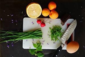 Картинка Ножик Апельсин Разделочная доска Яйца Пища