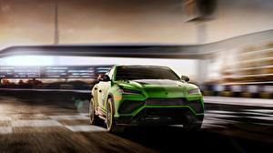 Фото Ламборгини Зеленая Urus 2019 ST-X машины