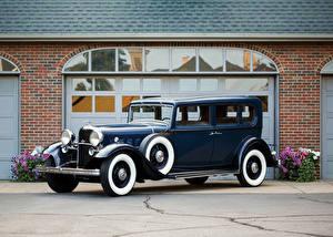 Обои Lincoln Винтаж Синий Металлик 1932 Model KB 5-passenger Sedan