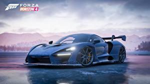 Картинки Макларен Синий 2018 Senna Forza Horizon 4 Игры Автомобили
