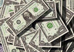 Фотографии Деньги Доллары Банкноты Вблизи