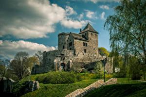 Обои Польша Замок Bedzin Castle город