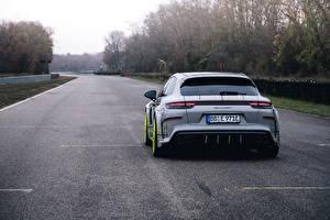 Фото Порше Сзади Panamera Turbo 2018 TechArt Grand GT Автомобили