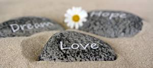 Фотографии Камень Любовь Песок Английский