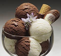 Картинка Сладкая еда Мороженое Шоколад Шарики Еда