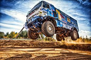 Картинки Грузовики KAMAZ HDR 309 SilkWay Dakar Автомобили