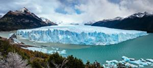 Картинки Аргентина Озеро Горы Лед Lago Argentino Santa Cruz Province