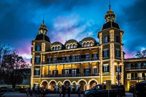 Картинка Австрия Здания Вечер Velden Города