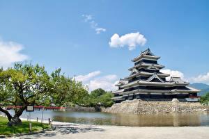 Фотографии Замки Япония Парки Matsumoto Castle, Nagano Города