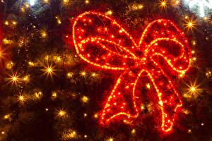 Обои Рождество Бантик Электрическая гирлянда Лучи света