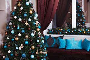 Обои Рождество Елка Шарики