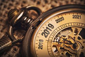 Картинки Рождество Часы Карманные часы Вблизи 2019