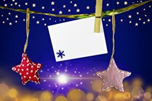 Картинки Рождество Прищепки Звездочки Шаблон поздравительной открытки