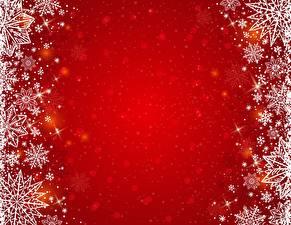 Обои Новый год Снежинки Шаблон поздравительной открытки Красный фон