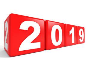 Картинки Новый год Белый фон 2019