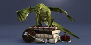 Фотографии Драконы Корона Книга 3D Графика