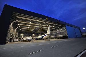 Фотография Самолеты Вечер Пассажирские Самолеты