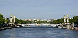 Обои Франция Мосты Париж Alexander III bridge