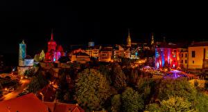 Картинка Германия Здания Ночь Bautzen Города