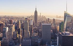 Обои Дома Небоскребы Штаты Нью-Йорк Empire State Building Города