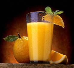 Картинки Сок Апельсин Стакане Продукты питания