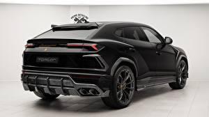 Картинка Lamborghini Вид сзади Черные 2018 TopCar Urus автомобиль