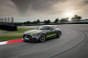 Обои Mercedes-Benz Едущий Серый AMG PRO GT R 2019 Автомобили