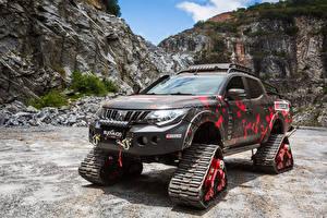 Обои Мицубиси Тюнинг Пикап кузов 2018 L200 Triton Survivor Автомобили