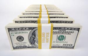 Обои Деньги Банкноты Доллары Серый фон