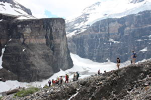 Фотография Гора Канада Банф Каньоны Скалы Снега The Trail Of The Six Glaciers