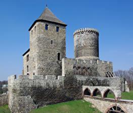 Фото Польша Замок Каменные Bedzin Castle город