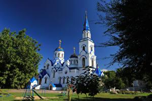 Обои Россия Храмы Церковь Voronezh Города