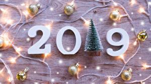 Картинки Новый год 2019 Шарики Гирлянда Елка
