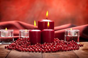 Фотография Рождество Свечи Пламя Красный