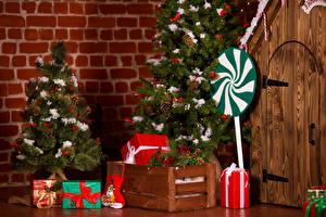 Фото Рождество Елка Подарок Дверь Сапог