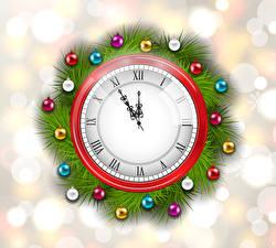 Фото Новый год Часы Циферблат Шар