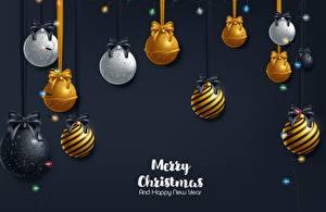 Фотография Рождество Английский Шарики Бантики