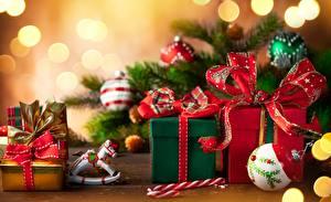 Фото Рождество Подарки Бантик